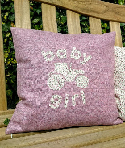 Baby Girl Cushion- Tractor