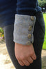 Cuff - Blue Herringbone