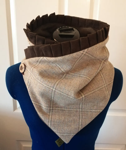 Jessica Suede Tweed Snood - Barn Owl