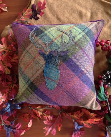 Stag Tweed Cushion- Fruit Salad