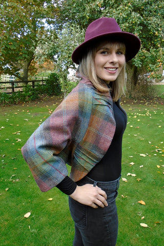 Tweed Shrug- Mole