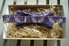 Bow Tie -Royal Purple Tweed with Purple Antler Print