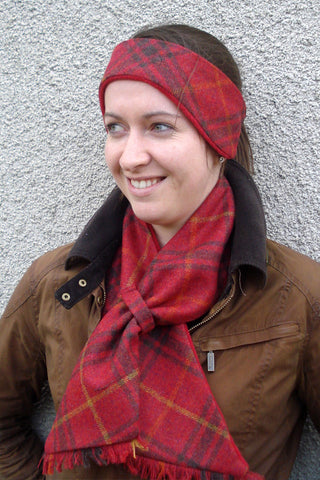 Alice Scarf - Chilli Check