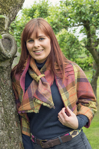 Tweed Shrug- Fruit Salad and Rose