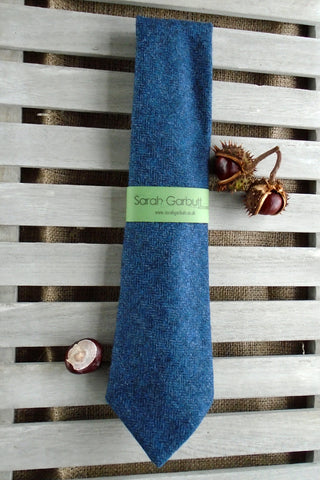 Sporting Tweed Ties- Navy Herringbone