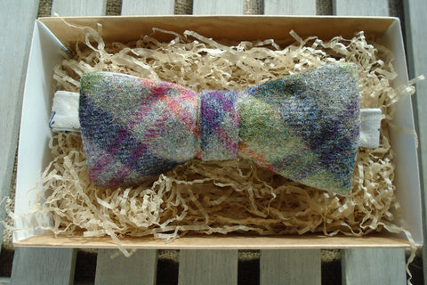 Bow Tie -Thistle Tweed with Cow Print
