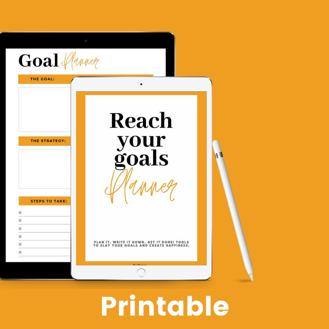 Reach your Goals Printable Planner