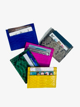 Load image into Gallery viewer, Bee In Style Multicolor Snakeskin Python Slot Card Holder