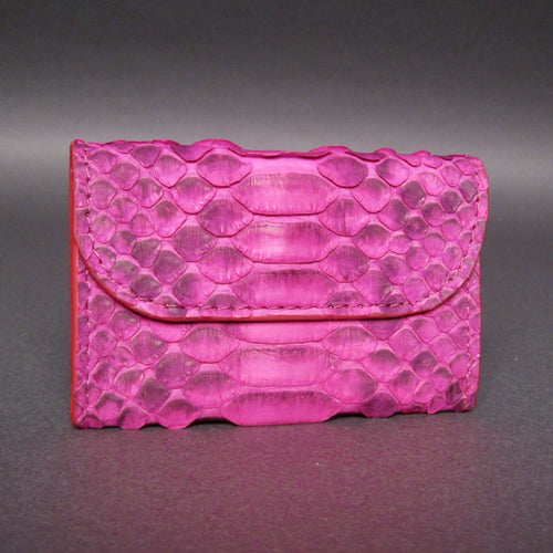 Bee In Style Pink Motif Snakeskin Python Card Holder