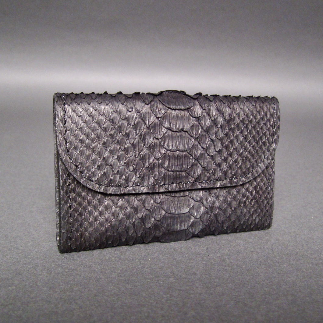 Bee In Style Black Snakeskin Python Card Holder