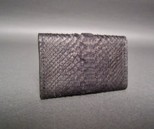 Load image into Gallery viewer, Bee In Style Black Snakeskin Python Card Holder