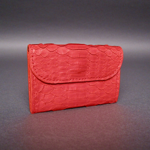 Bee In Style Red Snakeskin Python Card Holder