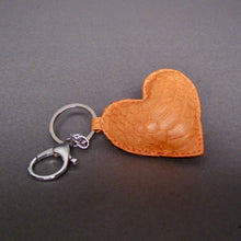 Load image into Gallery viewer, Bee In Style Orange Snakeskin Python Heart Key Holder and Charm