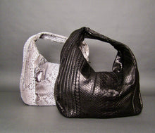 Load image into Gallery viewer, Bee In Style Natural White Python Leather Large Hobo Bag