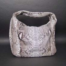 Load image into Gallery viewer, Bee In Style Natural Snakeskin Python Large Hobo Bag