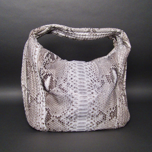 Bee In Style Natural Snakeskin Python Large Hobo Bag