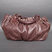 Load image into Gallery viewer, Gucci Chocolate Brown Guccissima Leather Studded Pelham Large Shoulder Bag