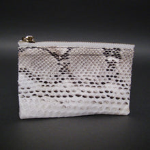 Load image into Gallery viewer, Bee In Style Natural Snakeskin Python Zip Pouch