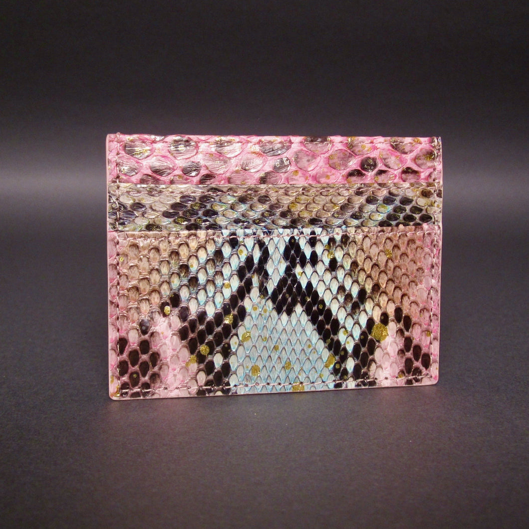 Bee In Style Multicolor Snakeskin Python Slot Card Holder