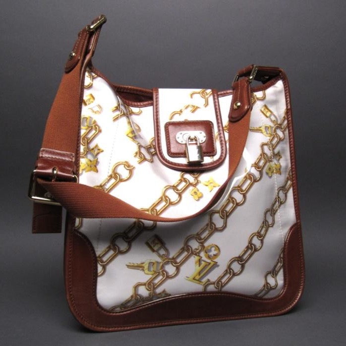Louis Vuitton White Monogram Charms Musette Shoulder Bag