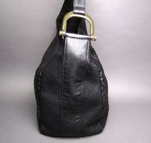 Load image into Gallery viewer, Gucci Black Python and Leather Greenwich Large Hobo Bag