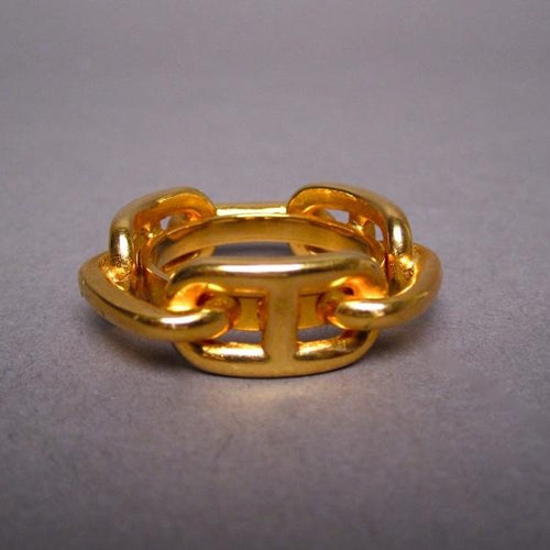Hermès Chaine D'Ancre Golden Tone Scarf Ring