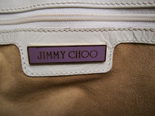 Load image into Gallery viewer, Jimmy Choo White Snakeskin Leather Ayse Hobo Bag