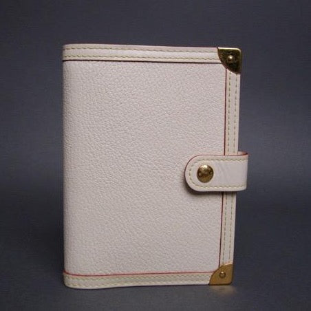 Louis Vuitton White Suhali Agenda Notebook PM