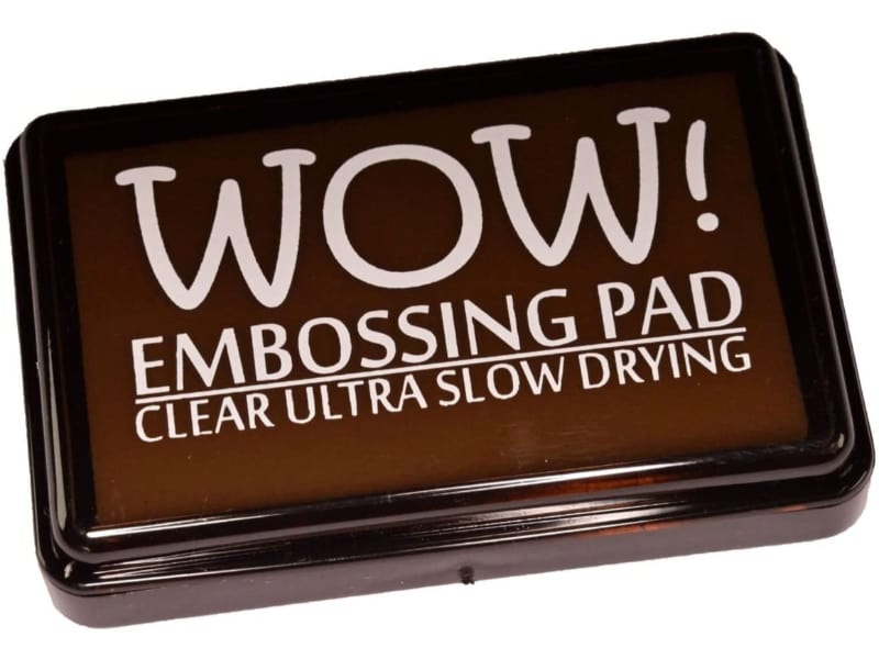 A Wow! Embossing ink pad in ultra slow-drying clear ink