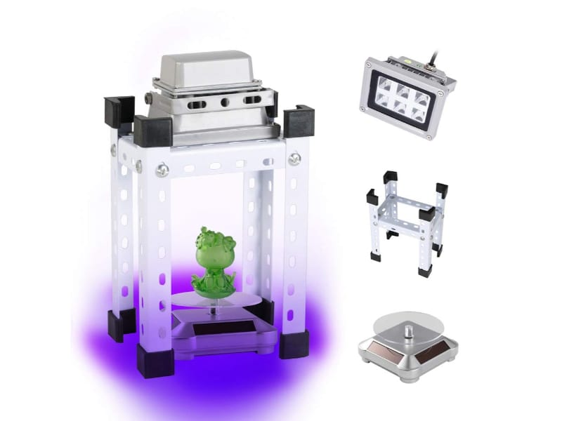 UV resin curing light kit with turntable and stand for 3D resin prints