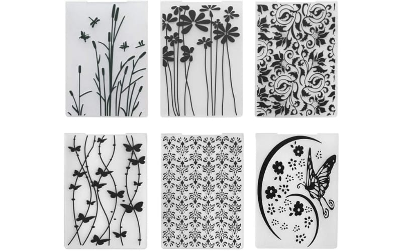 Facemile Nature Embossing Folder Set in 6 different patterns