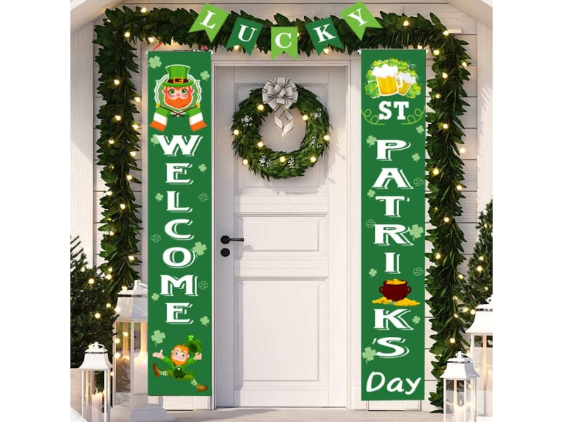 St Patrick's Day Porch Banner