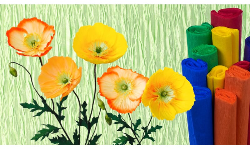 Lovely crepe paper poppy for your Cinco de Mayo decors