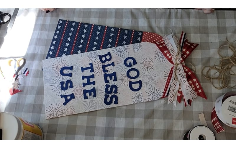 God bless the USA door tag and other crafting supplies