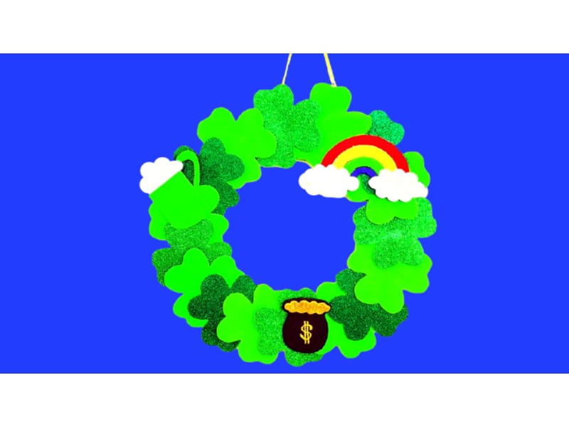 Pot of Gold Wreath St. Patrick's Day Craft