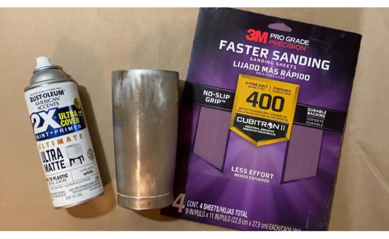 Supplies you need to prepare a tumbler before sealing it without epoxy