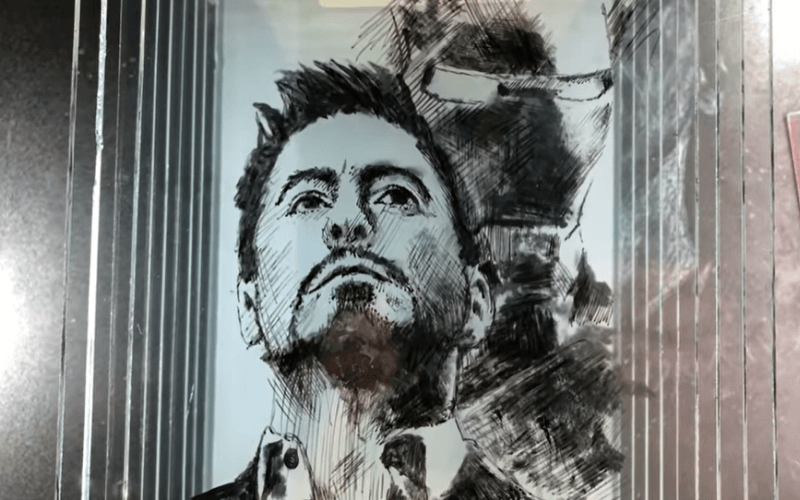 Layered painting of Iron Man - Image by DP Art Drawing