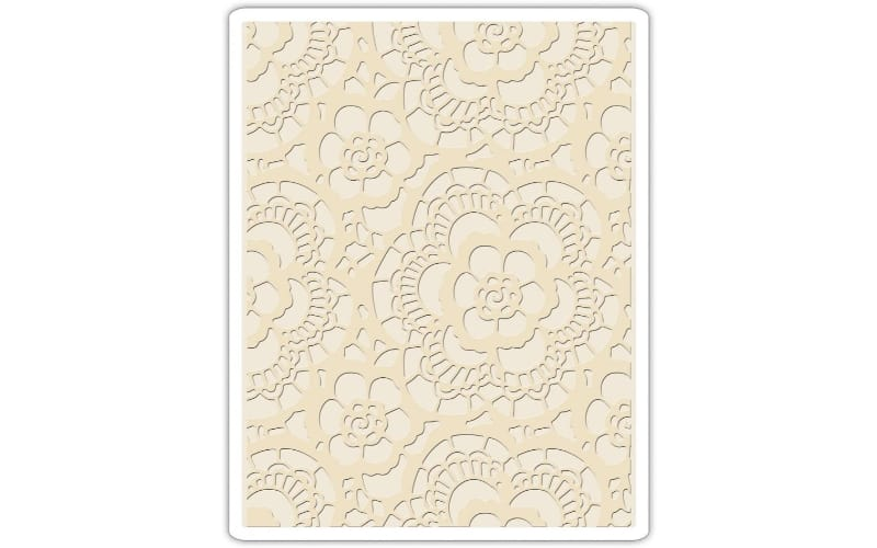 a lace embossing folder made from polypropylene materials