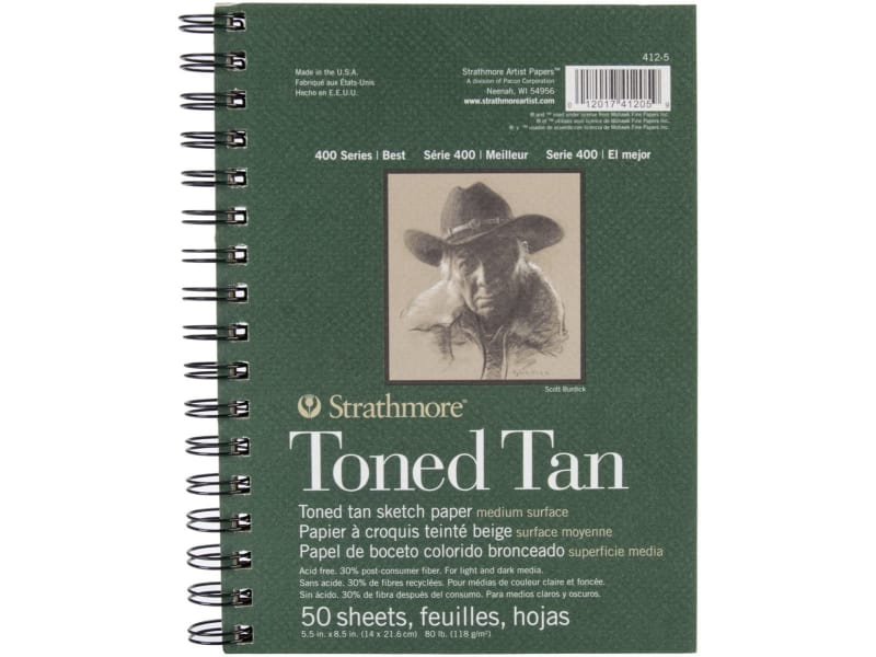 Strathmore Tan 400 Series Charcoal Drawing Sketch Book