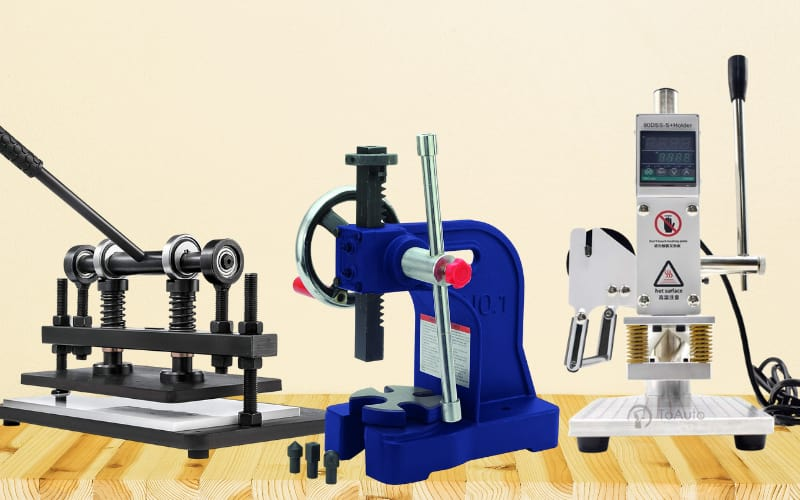 Hand Crank Leather Embossing Machines