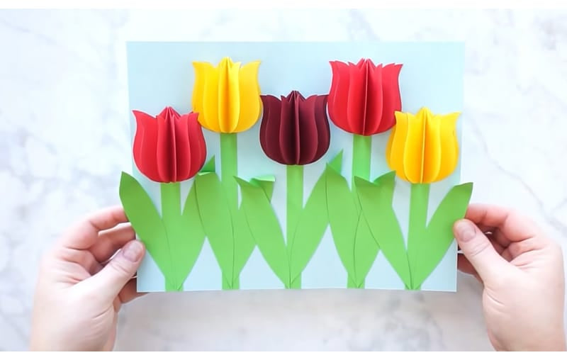 3D Cinco de Mayo flowers (tulip) to decorate your cards