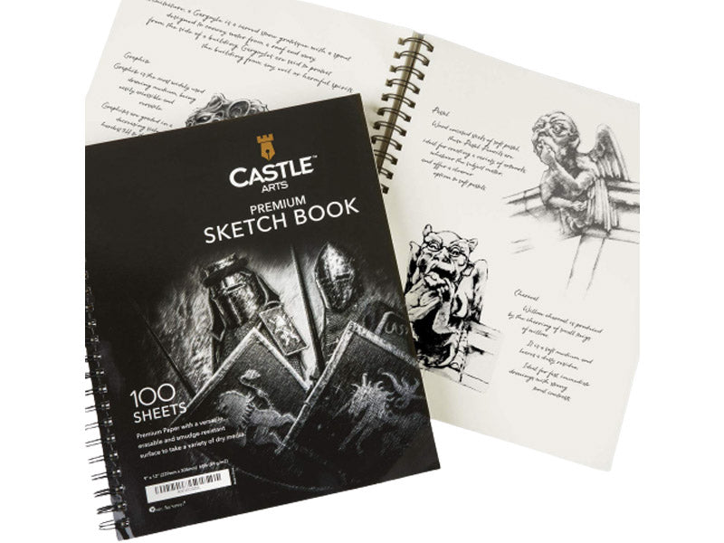 Castle Art Supplies Premium Paper for Charcoal Drawing
