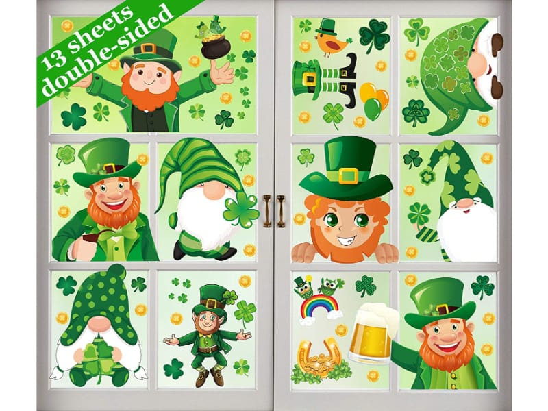 St. Patrick's Day Window Clings Decorations