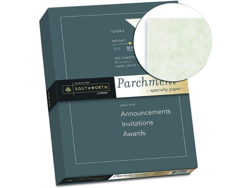 ivory parchment paper for invitations, cards, and certificates