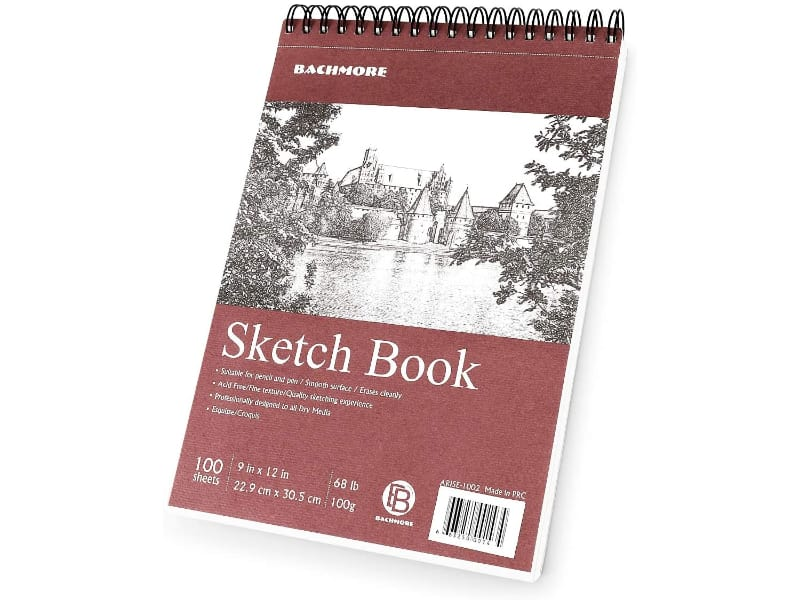 Bachmore's Sketchpad Charcoal Drawing Paper