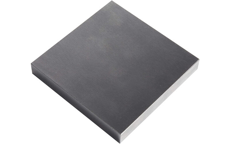 A flat anvil for leather embossing