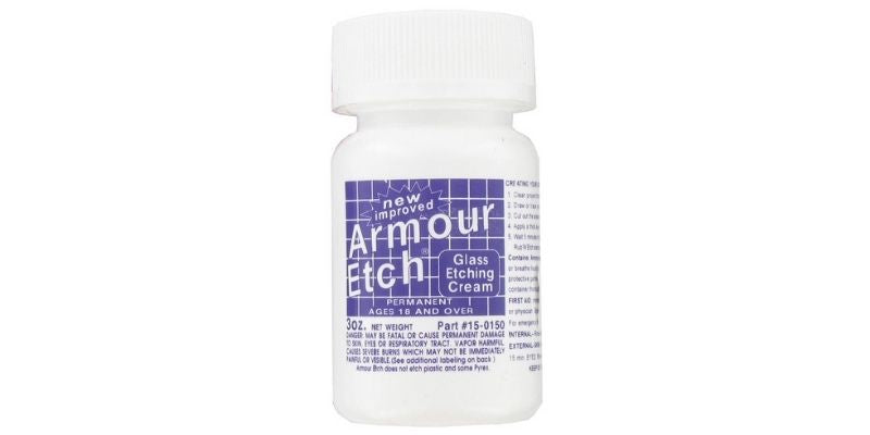 Armour Etching Cream for glass and mirrors