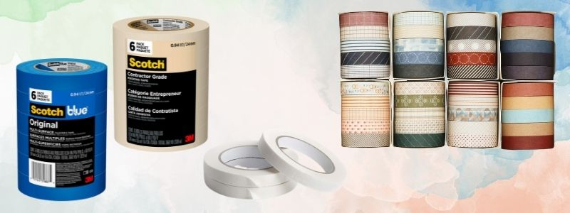Different types of masking tape