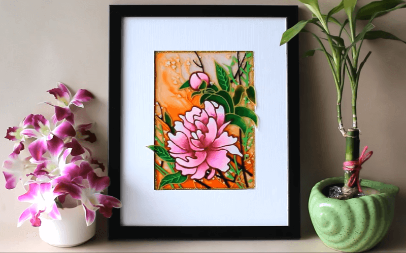 Flower glass painting - Image by Creative Art