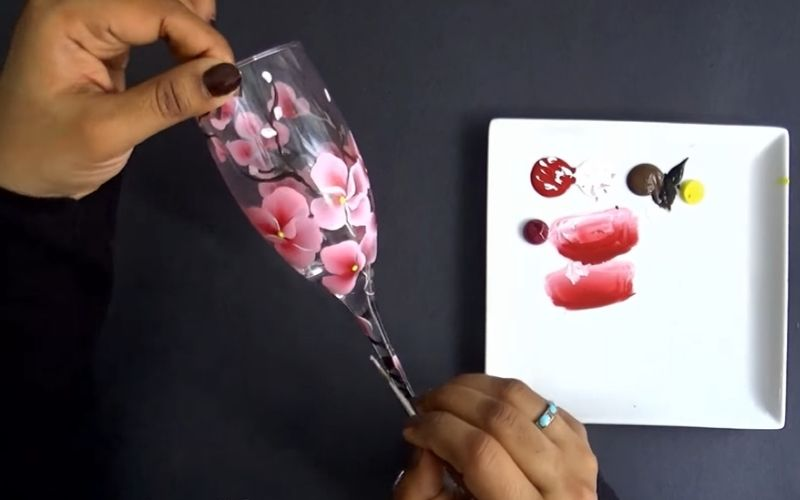 Hand Painting on Wine Glasses